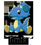 cartoon dinosaur mascot greta
